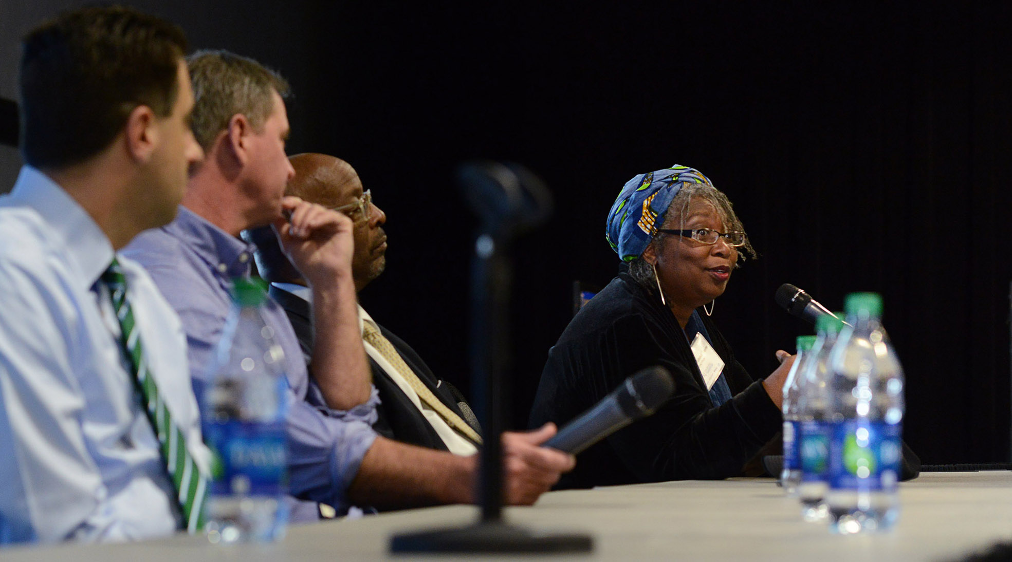 Hakima Payne speaks during the 2019 Frontiers Research Day panel session.